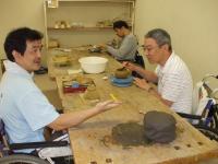 陶芸グループ訓練のようす